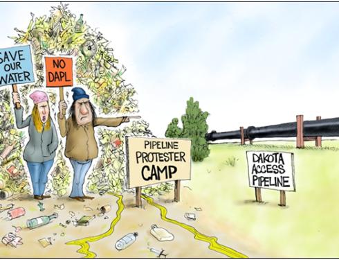 North Dakota should send $33 million bill for pipeline protesters to Tides, Rockefeller foundations